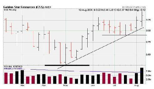 GSS stop loss point on stock chart