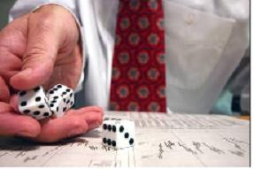 rolling the dice vs stock trading image