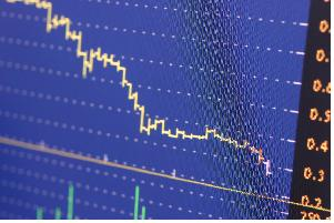 bearish stock chart image